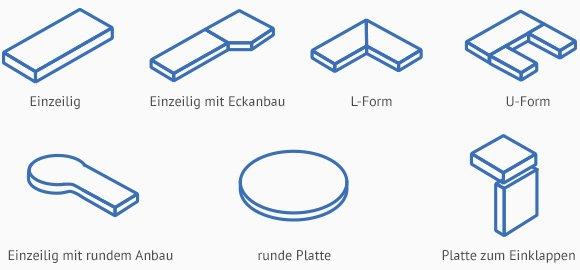 Küchenarbeitsplatte maße  Küchenarbeitsplatten » Traum-Küchen vom Profi | Käuferportal