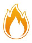 Brandschutz - Flamme