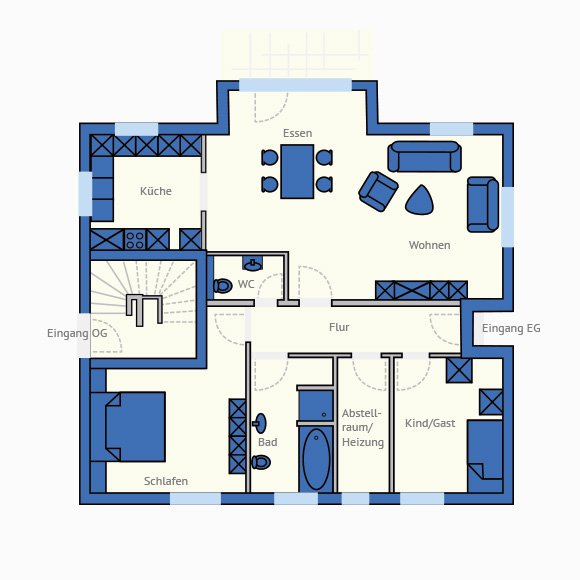 Grundriss zweifamilienhaus zwei eing nge h user for Zweifamilienhaus grundriss