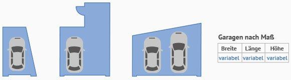 Doppelgarage abmessungen  Fertiggaragen Maße » Beratung & Angebote | Käuferportal