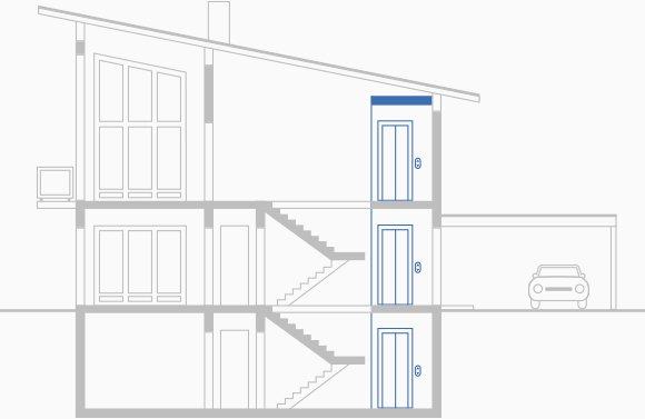 aufzug einfamilienhaus privathaus preise vergleichen. Black Bedroom Furniture Sets. Home Design Ideas
