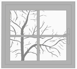 Aluminiumfenster (Illustration)
