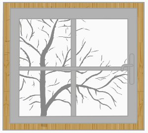 Holz-Aluminium-Fenster (Illustration)