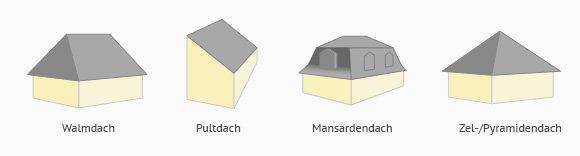 Dachformen für Villen