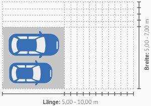 Doppelgarage mit abstellraum maße  Großraumgaragen Maße » Beratung & Angebote | Käuferportal