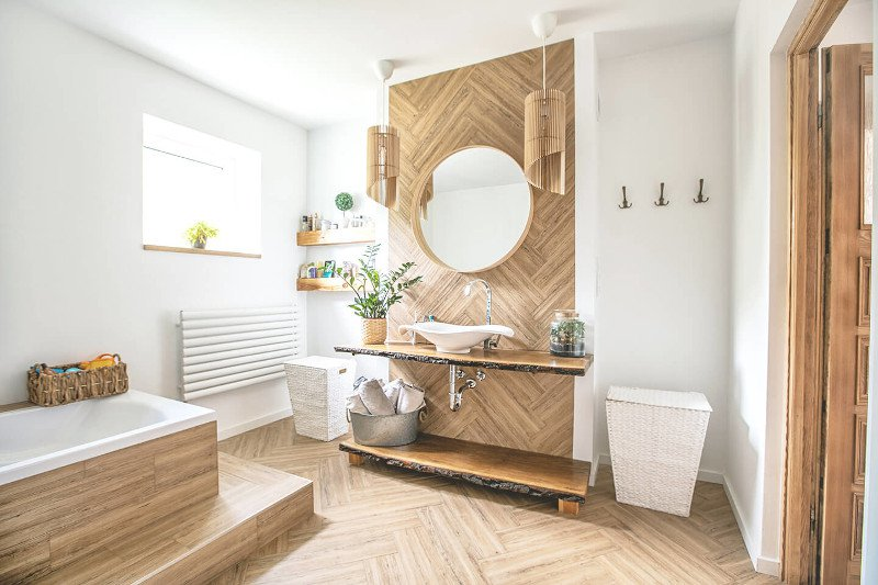Badezimmer mit Holz stilvoll und funktional gestalten ...